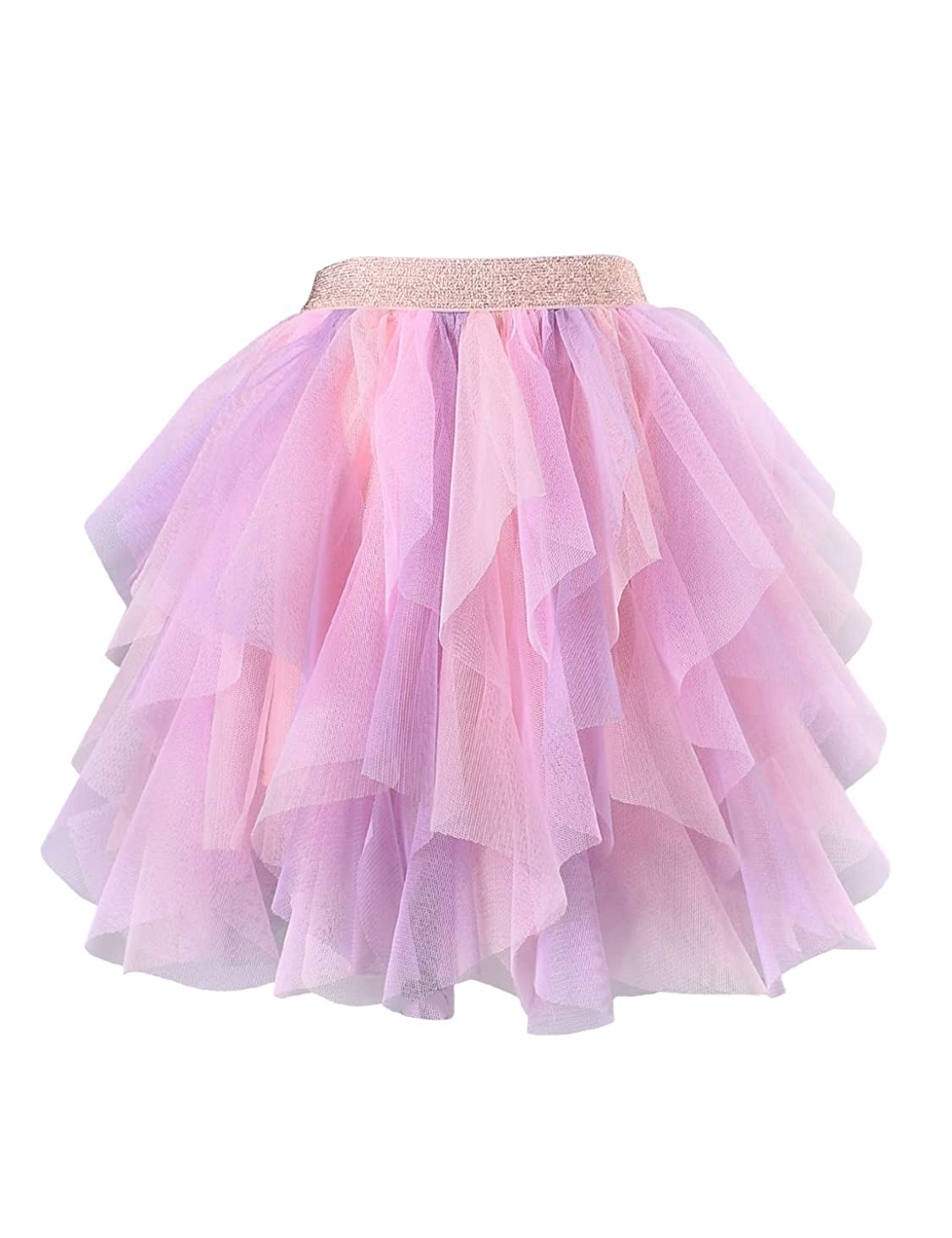 Kid Girls Rainbow Tutu Skirt Tulle Birthday Party Princess Skirt