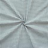 100% Baumwollstoff Karos mittel Stoff Meterware Grau-Weiss