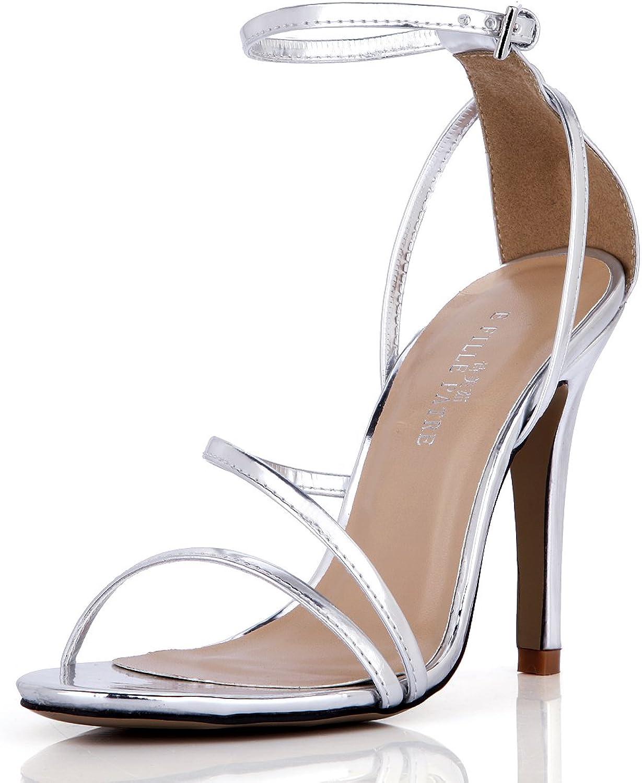 DolphinGirl Women Simple Open Toe Sandal Dress Pump Ankel Strap SM00230