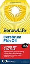 Renew Life Cerebrum Cereboost with DHA, Cognition Boosting and Memory Boosting, 60 Count