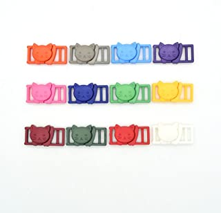 "12pcs/Pack 3/8"" Cat-Head Plastic Safty Breakaway Buckles for Bra Cat Collar Paracord Webbing Garment Accessories"