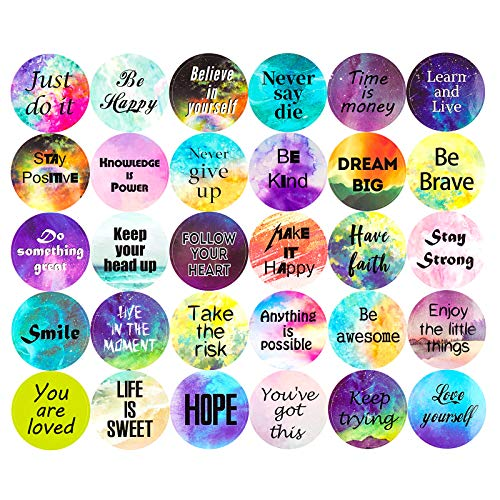 900pcs Inspiring Planner Stickers Inspirational Quote Stickers Motivational Encouragement Stickers Positive Stickers for Book, Notebook, Planner Laptop Book Phone Car Luggage Bike