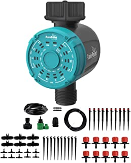 Drip Irrigation Sprinklers System Irrigation Water Timer Controller Distribution Tubing Watering Drip Kit Automatic Irriga...