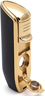 Mrs. Brog Triple Torch Cigar Lighter with Built in Cigar Punch - Pocket Size 3 Adjustable Jet Flames - Ergonomic Grip - Gift Accessory Cutter Wind Proof. (Butane Gas Not Included)