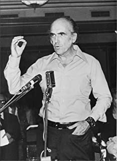 Vintage photo of Andreas G. Papandreou addressing people.