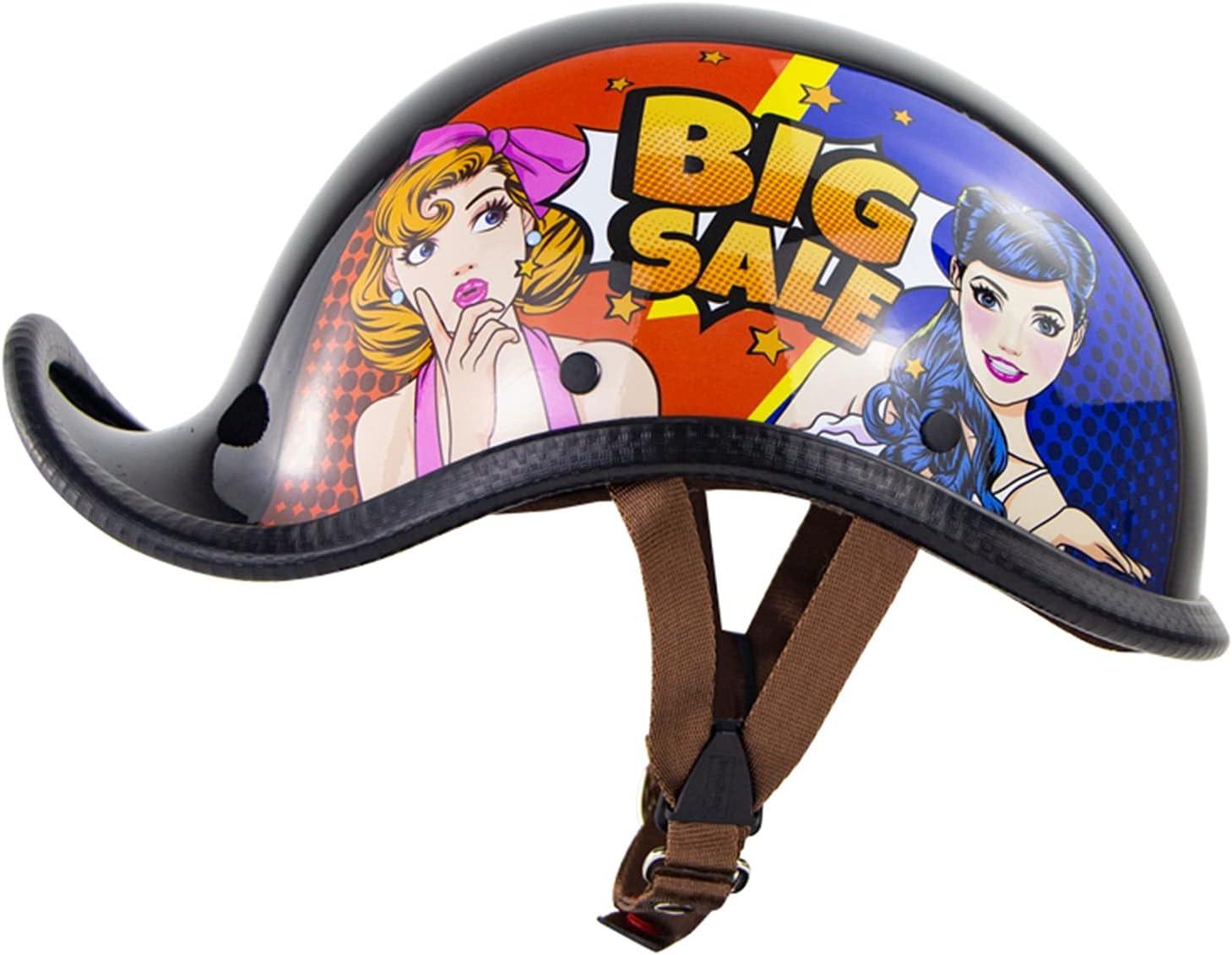 TCTCGXQ Retro Open Rapid rise Face Motorcycle Cruiser Half Chopper Fixed price for sale Helmets