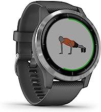 Garmin vívoactive 4 – waterdichte GPS-fitnesssmartwatch met trainingsplannen en geanimeerde oefeningen. Hartslagmeting, 20...