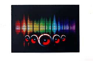 Sound Activated Flashing Light Up Down Speaker LED Panel with Sensor (Melody)