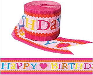 Adorable Lalaloopsy Crepe Streamer Birthday Party Decoration (1 Piece), Pink, 30'.