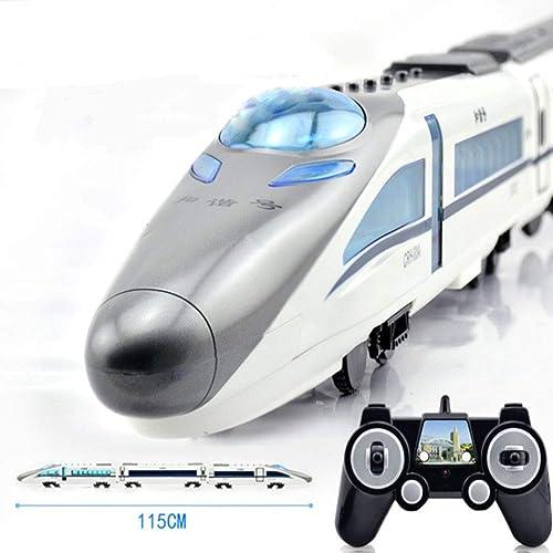 a la venta Aiya Tren de la UEM Control Remoto Remoto Remoto Coche RC Cartoon Tren Juguete con Luces y Sonido para Niños pequeños Tren Set Modelo Juguete Regalo 115CM  barato en alta calidad
