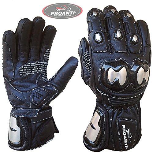 PROANTI Motorradhandschuhe Regen Winter Race Leder Motorrad Handschuhe Gr. XL