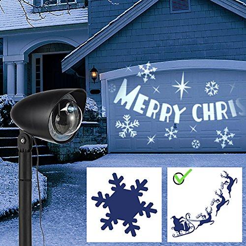 Riflettore con faretto a LED di Natale con motivo con slitta di Natale
