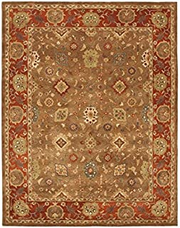 Safavieh Heritage Collection HG952A Handcrafted Traditional Oriental Moss and Rust Wool Runner (2'3