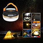 Dupelec 2 in 1 Camping Tent Light Power Bank Charger, Portable LED Magnetic Hanging Lantern,Small USB Lamp with Hook…