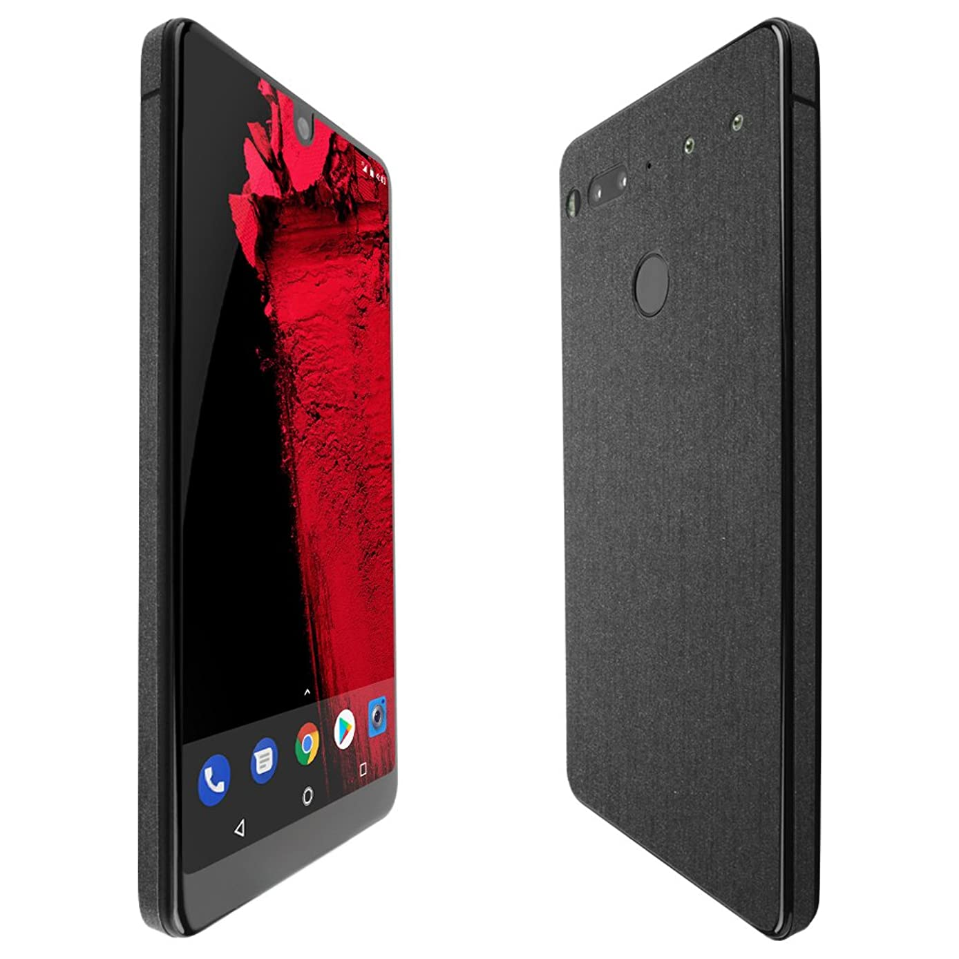 Essential Phone Screen Protector + Brushed Steel Full Body, Skinomi TechSkin Brushed Steel Skin for Essential Phone with Anti-Bubble Clear Film Screen