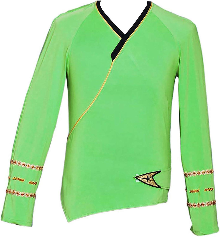 Denver Mall VINFA Los Angeles Mall Star Trek Cosplay TOS Green Command Wrap Shirt Costume