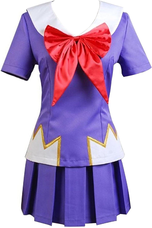 MH Future Diary Mirai Nikki Yuno Gasai School Uniform Cosplay Costume Halloween