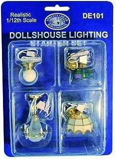 Dollhouse Ceiling Lamp Starter Kit 4 Lights Wedding Cake Tiffany & Globe Style
