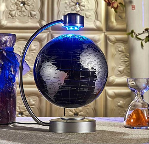 Floating Globe, Office Desk Display Magnetic Levitating and Rotating Planet Earth Globe Ball with World Map, Cool and Educational Gift Idea for Him - 8