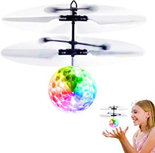 Betheaces Flying Ball Toys, RC Toy for Kids Boys Girls Gifts Rechargeable Light Up Ball..