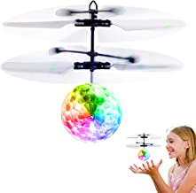 Betheaces Flying Ball Toys, RC Toy for Kids Boys Girls Gifts Rechargeable Light Up Ball Drone Infrared Induction Helicopte...