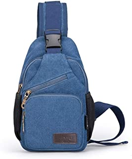 Asdfnfa Backpack, Anti-Scratch Waterproof Crossboby Shoulder Pack for Outdoor Cycling, Running, Hiking, Climbing and Travel (Color : Blue)