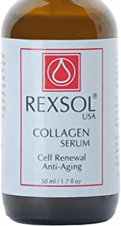 REXSOL Collagen serum | With Vit C&E | Effective Anti Aging Serum For Face Care & Age Spot Remover | Anti Wrinkle Serum & Anti Aging Face Serum With Hyperpigmentation Treatment | Rapid Wrinkle Repair - 1.7 OZ