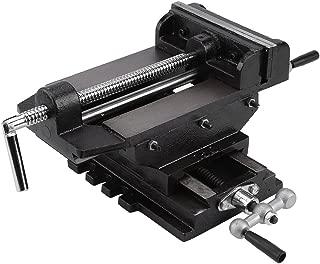 Liusin 6-Inch Jaw Width Cross Slide Drill Press Vise Metal Milling Heavy Duty Clamp Machine Bench Mount