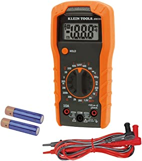Klein Tools MM300 Digital Manual-Ranging Multimeter, Tests Batteries, Diodes, and Continuity, 600V