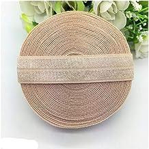 Xpwoz Hair Belt Sewn Garment 5 Grootte 5/8 inch (15 mm) Polyurethaan Elastic Band Singels (Color : Khaki)