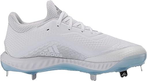Footwear White/Silver Metallic/Glow Blue