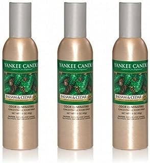 Yankee Candle Lot of 3 Balsam & Cedar Odor Eliminating Room Spray 1.5 Oz Each (Scented)
