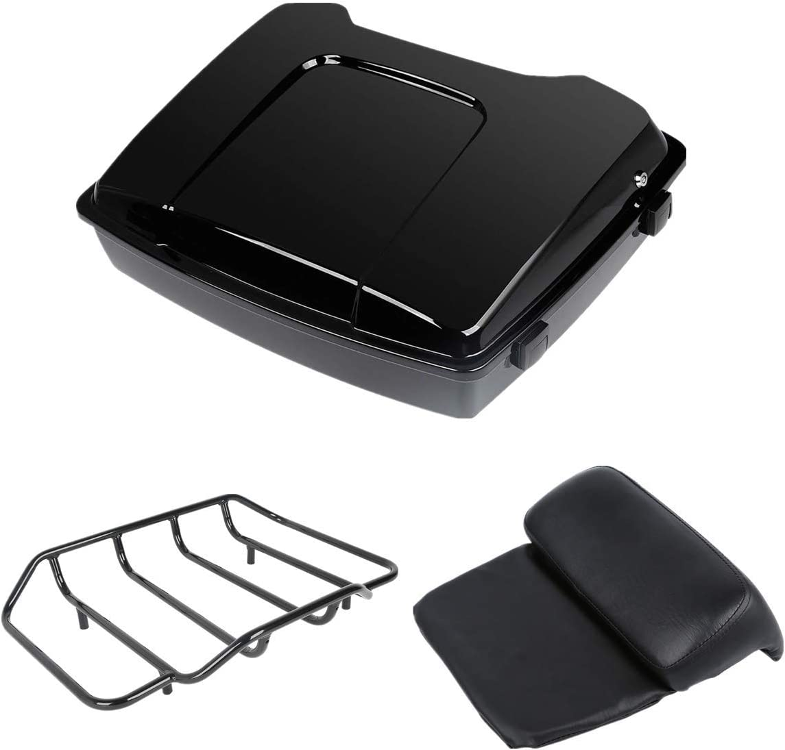 TCMT Razor Pack Trunk Top security Product Luggage Rack T Backrest Harley Fit For