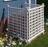 """Zippity Outdoor Products ZP19052 Liberty Lattice 42"""" X 36 Enclosure to Cover Outdoor Garbage or AC Units White Vinyl Privacy Screen"""