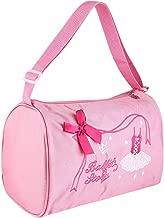 Mootea Kids Ballet Bag, Girl Kids Dance Ballet Swim Bag Backpack Embroidered Tote Large Capacity Adjustable Straps, Purple and Pink