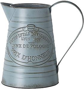 Brownrolly Vintage Metal brocca Vaso con Manico, Shabby barile annaffiatoio vasi vasi per Fiori, composizioni Floreali per Matrimonio casa Bar Decorazione B