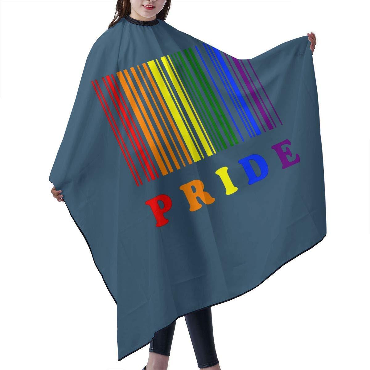 wholesale Lgbt Pride Barcode Manufacturer OFFicial shop Barber Cape Salon Cover Professional Cloak Ha