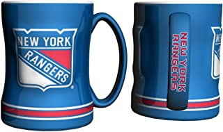 New York Rangers Coffee Mug - 14oz Sculpted Relief by Boelter Brands