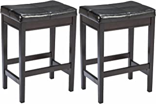 Ashley Furniture Signature Design - Kimonte Upholstered Barstool - Counter Height - Contemporary - Set of 2 - Dark Brown