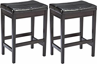 Signature Design by Ashley Kimonte Counter Height Bar Stool, Dark Brown
