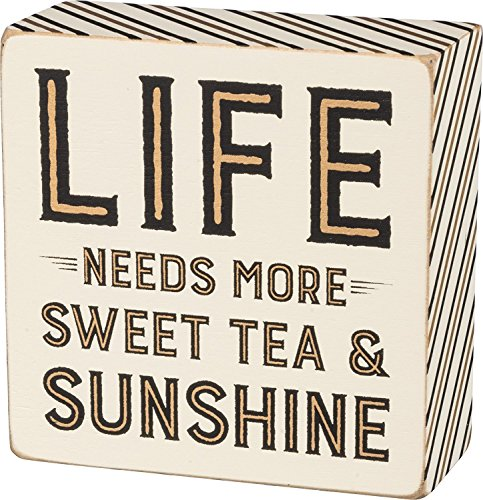 Life Needs More Sweet Tea & Sunshine Decorative Wooden Box Sign