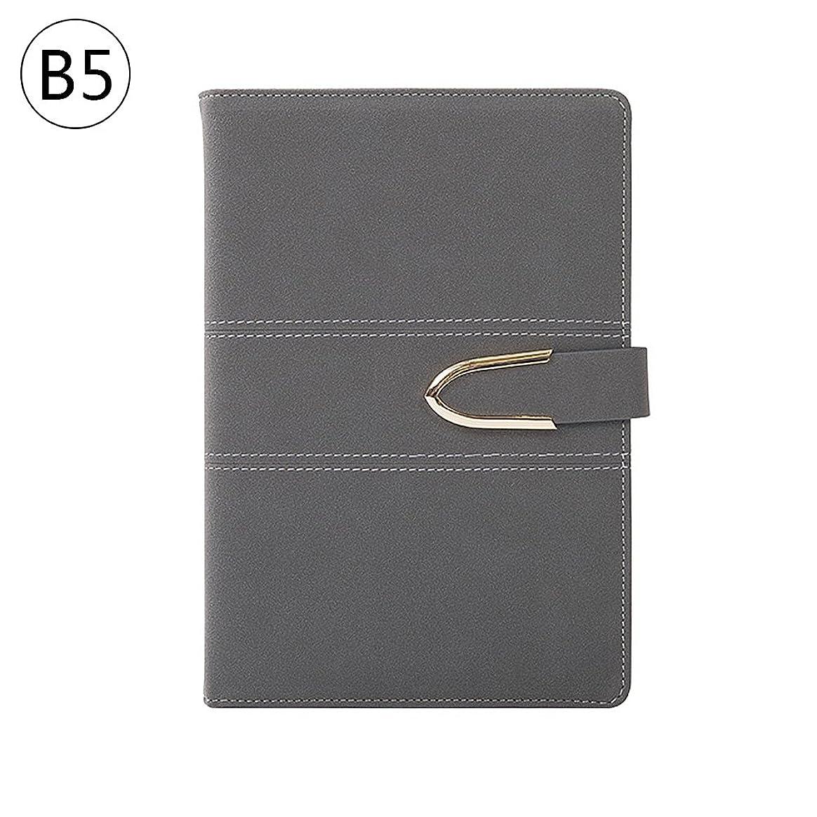 Zhi Jin 1冊 B5レザーノートビジネス手帳オフィス用 暗灰色