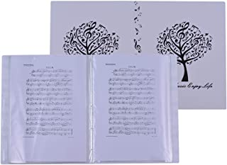 Music Sheet Score File Paper Documents Storage Folder Holder Plastic A4 Size 40 Package Pockets
