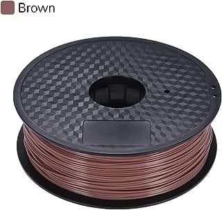 Color Optional PLA Filament 1kg/Roll 2.2lb 1.75mm for MakerBot Anet RepRap 3D Printer Pen Brown