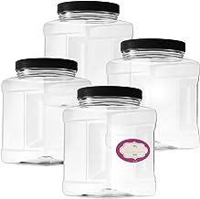 4-Pack Quart Size Clear Plastic Paint Cans