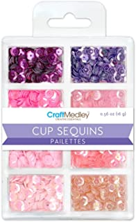 Multicraft Imports Craft Medley GC457E Cup Sequins, 7mm, 16g, 8 Colors, Princess