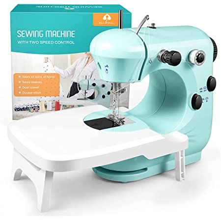 Sewing Machine, Mini Sewing Machine for Beginner with Eco-Friendly Material, Dual Speed Portable Sewing Machine with Extension Table, Light - Easy to Use, Best Gift for Kids and Women, Space Saver