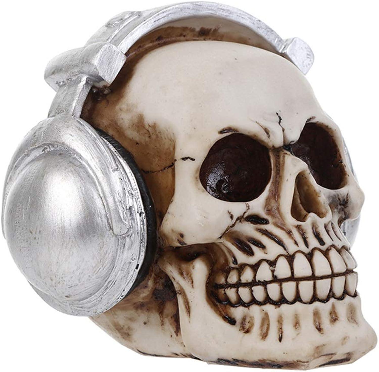 Yammucha Halloween Dekoration Menschlichen Menschlichen Menschlichen Erwachsenen Schädel Kopf Knochen Modell Kunstharz Indoor Party Supplies B07GWZNSWM f4e890