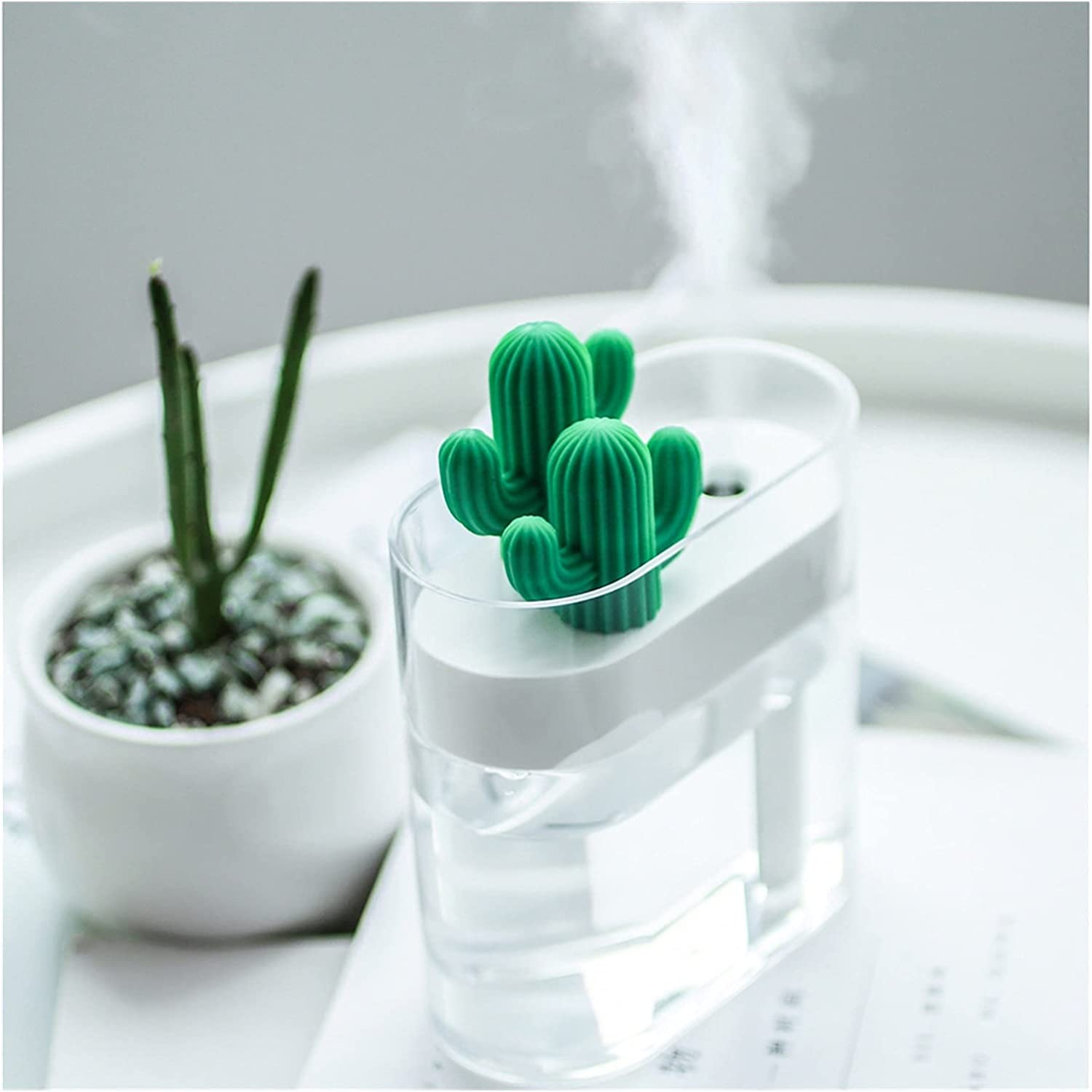 XQKJ Financial sales sale Daily Necessities Transparent Humidifier Shaped Cactus Directly managed store Air