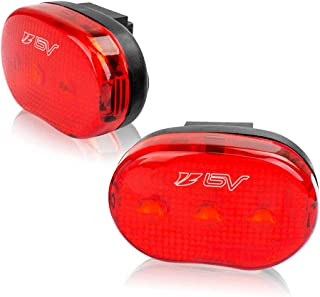 BV Rear Bike Tail Light 2 Pack, Bicycle LED Rear Lights, Easy to Install for Cycling Safety Flashlight